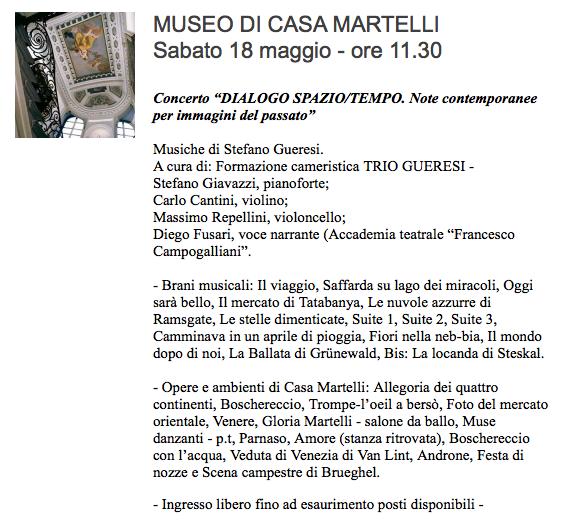 Casa Martelli Giornata internazionale dei musei